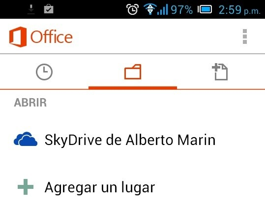 Office Mobile en Android