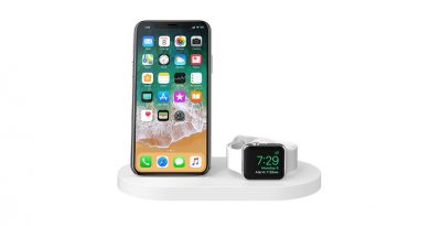 BOOST UP Wireless Charging Dock for iPhone + Apple Watch + USB-A port ; White