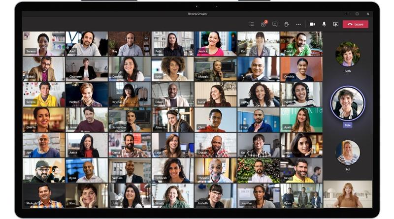 Vista de galería ampliada Microsoft teams